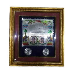 Silver Patrika With Frame