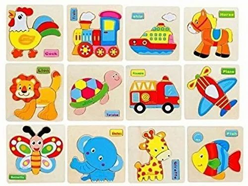 Multicolor Wooden Animals 3D Puzzle Children' s Educational Toys