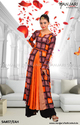 Orange Box Plete Long Rayon Dress, Size: S, M & L