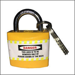 With Key Yellow Short Shackle Lockout Safety Padlocks, Polished