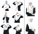 Soft Stretchable Stitched 2 Loop Instant Scarf Hijab