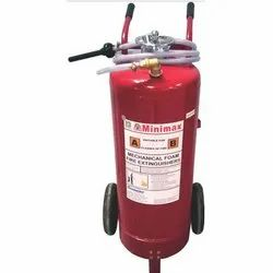 A B C Dry Powder Type Minimax Trolley Mounted Fire Extinguisher, Capacity: 75 kg