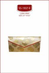 Golden SATIN FABRIC Printed Shagun Envelopes