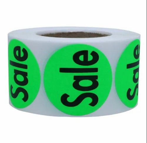 Round Paper Printed Label Sticker, Packaging Type: Roll