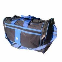Blue And Black Plain Canvas Travel Bag