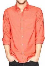 Blue Plain Cotton Shirt