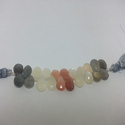 Natural Multi Moonstone Pears Briolettes Beads