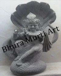 Krishna Black Marble Statue