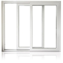 White Coated Aluminium Sliding Window