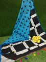 Girraj Printers Casual Wear Batik Printed Pom Pom Saree