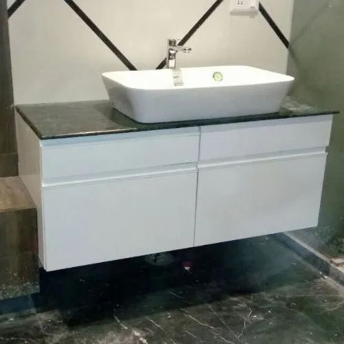 Stainless Steel White Wall Mounted, Wall Hung Bathroom Vanities
