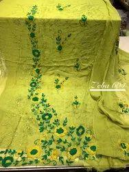 unstitch Party Wear Pakistani chiffon embroidered suits