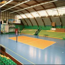 Indoor and Outdoor Volleyball Court PVC Flooring Services