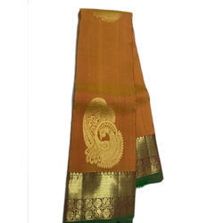 Yellow Party Wear Ladies Silk Saree, With Blouse Piece