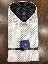 Full Sleeves Vintage Mens Printed Shirts