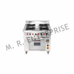 MR Enterprise 4 Burner Cooking Range, For Restaurant