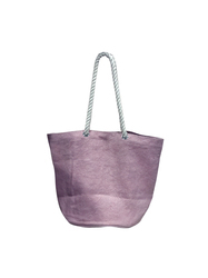 Pink Washed Jute Bag with Twisted Rope Handle