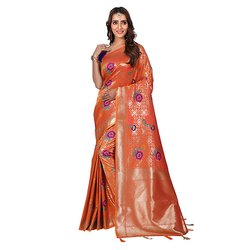 1527 Designer Jacquard Silk Saree