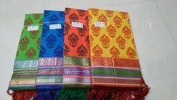 Handloom Cotton Mangalgiri Printed Dress