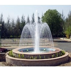 Vertical Sandstone Outdoor Water Fountain, For Ontdoor
