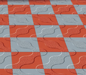 Grey And Red Centre Way Tiles, Size: 12 Inches