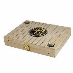 Rectangular Brown Wooden Jewellery Box