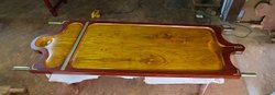 Ayurvedic Wooden Massage Table Carved (3 Feet Short - Bowl Top Only)
