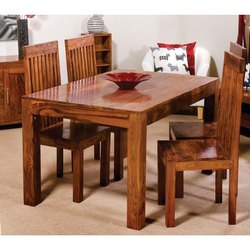 Design India Dark Brown Sheesham Wooden Dining Tables