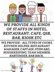 Contractual Staffs Supplier In Hotel, Restaurant, Cafe, QSR Etc