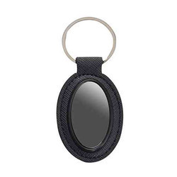 Black Oval Shape Keychain