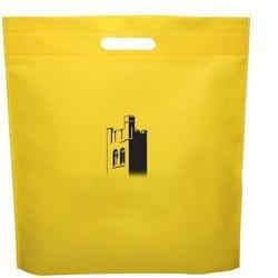 Non Woven Yellow Carry Bag, Handle: D-Cut