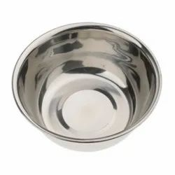 Stainless Steel Half Curved Open Rim Unicef Pattern Lotion Bowls