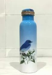 Bird Meena Print Copper Bottle