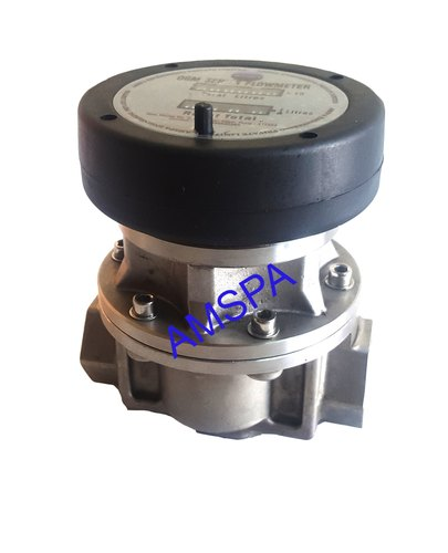 Stainless Steel Oval Gear Flow Meter, Line Size: 1""
