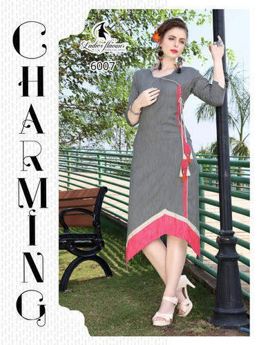 16dd3b3f4a Ladies Flavour Khadi Rayon Kurtis Collection, Rs 425 /piece | ID ...