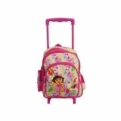 Multicolor Trolley School Bag