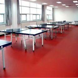 Red Indoor Table Tennis Sports Court Flooring