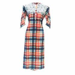 Ladies Cotton Causal Wear Fancy Dress, Size: S-XXL
