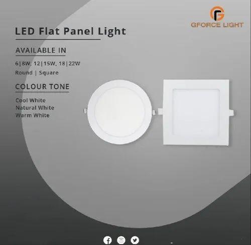 GFORCE 6W to 22W LED Flat Panel Light, 220V AC
