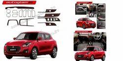 Brown Maruti Suzuki Swift 2018 Wooden Interior KIT, For Garage