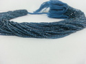 2mm AAA London Blue Topaz Micro Faceted Beads