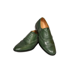aa8839c94 AM Men Green Semi Formal Shoes, Size: 6 To 12 Inches, Rs 2500 /pair ...