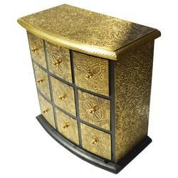 Wooden Drawer with Brass Work