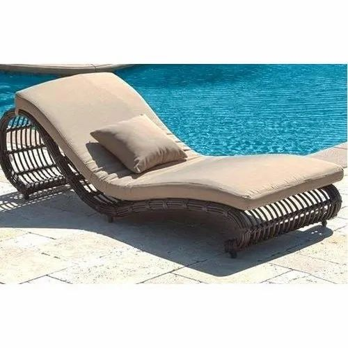 Fantastic Brown Wicker Swimming Pool Lounge Chair Urban Woods Id Ocoug Best Dining Table And Chair Ideas Images Ocougorg
