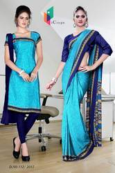 Uniform Saree Kurti Combo