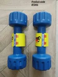 Rubber Fixed Weight Pvc Vinyl Filled Dumbells, For Household, Weight: 5 Kg