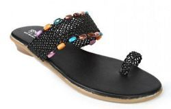 Senorita Womens Black Thong Sandal