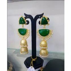 Brass(Base) Party Wear Imitation Artificial Earring