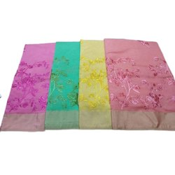 5.5 m (separate blouse piece) Casual Chanderi Thread Work Saree, With Blouse Piece