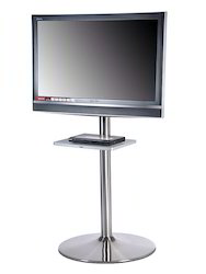 LED TV Floor Stand With Setup Box Tray